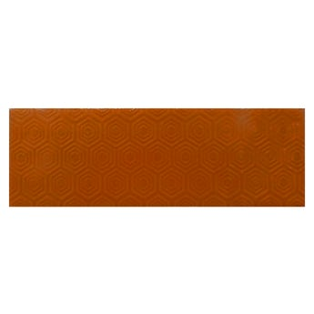 Accents Zenith orange patterned gloss wall tile 100mm x 300mm