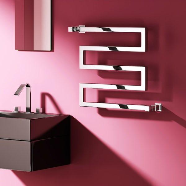Reina Serpe chrome steel designer radiator