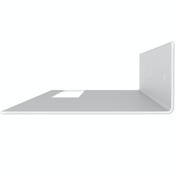 Accents Mono white 800mm bathroom shelf