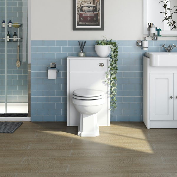 The Bath Co. Dulwich matt white slimline back to wall toilet unit 500mm