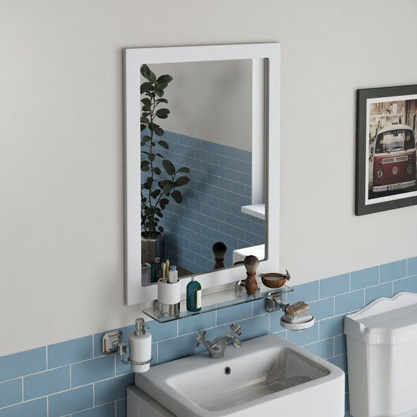 The Bath Co. Dulwich matt white furniture package with vanity unit 600mm