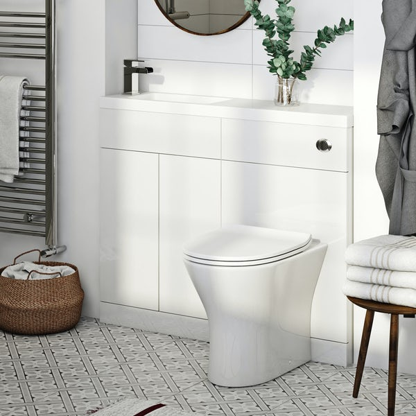 Orchard MySpace Slim white combination with Derwent round toilet and soft close seat
