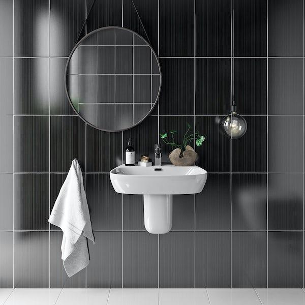 British Ceramic Tile Linear Black Gloss