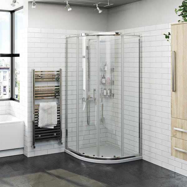 Orchard 6mm two door quadrant shower enclosure offer pack