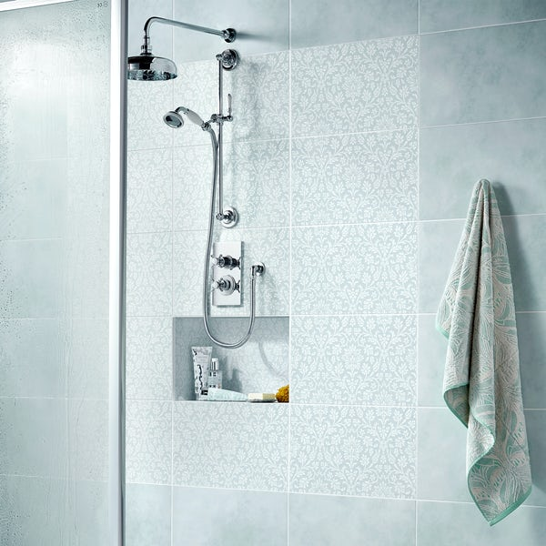 Laura Ashley Annecy duckegg matt wall and floor tile 298mm x 498mm