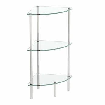 Orchard Options freestanding quadrant 3 glass shelf unit