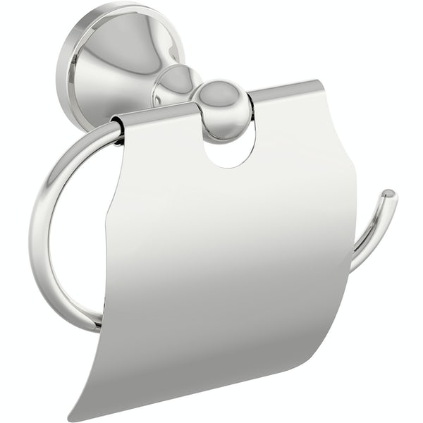 Accents round traditional toilet roll holder with cover