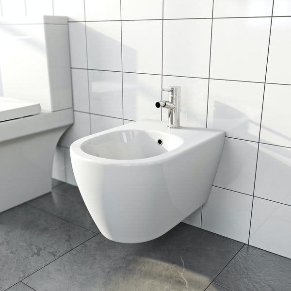 Orchard Wharfe bidet mixer tap with pop up waste