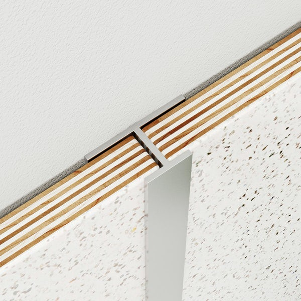 Multipanel Classic type D polished silver mid joint profile