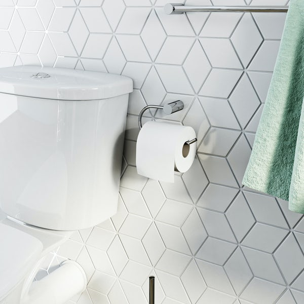 Clarity toilet roll holder