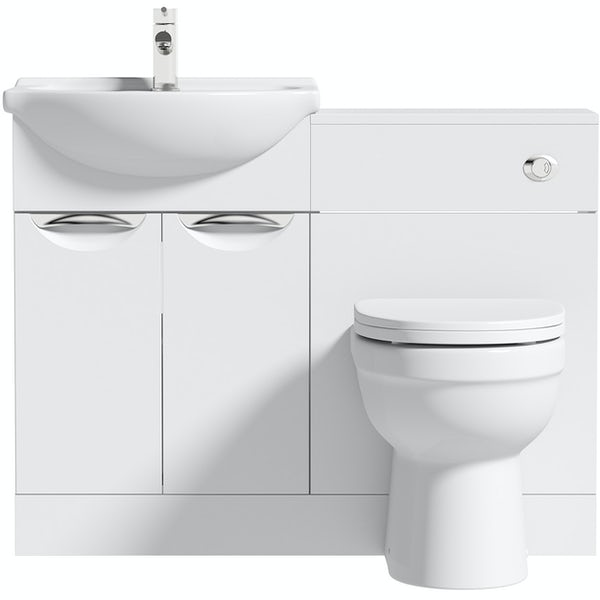 Orchard Elsdon white 1060mm combination with Eden back to wall toilet and soft close seat