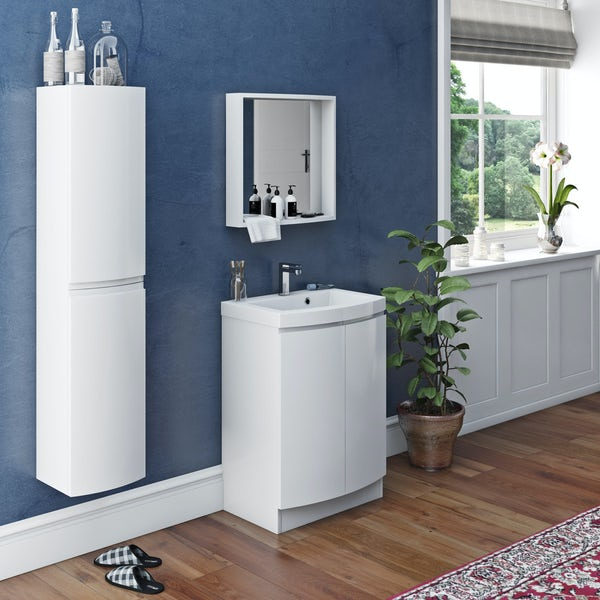 Mode Harrison snow furniture package with floorstanding door unit 600mm