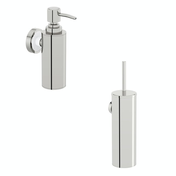Options Stainless Steel 2 piece wall mounted Accessory Set