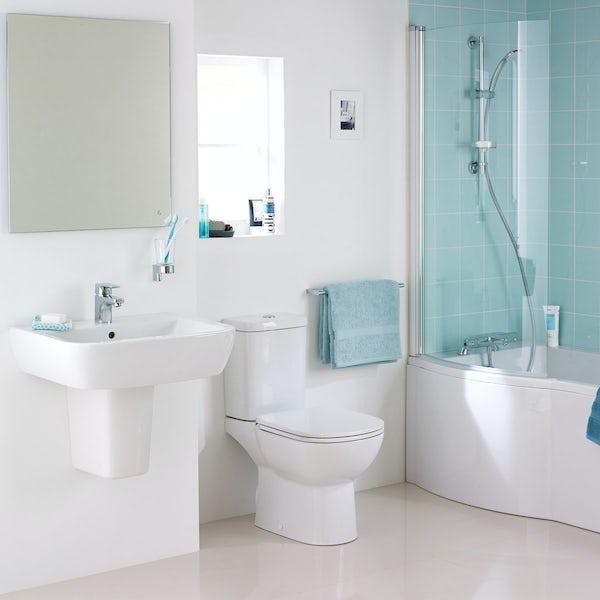Ideal Standard Tempo complete left handed shower bath suite 1700 x 800