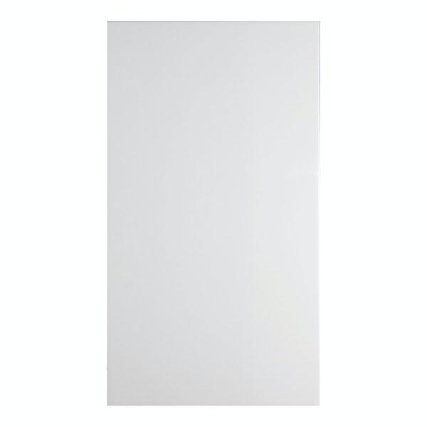 Clarity plain flat matt white wall tile 300mm x 600mm