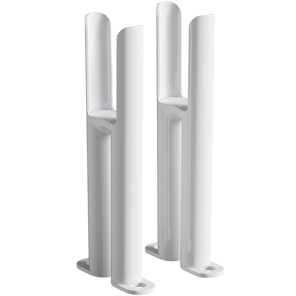 Clarity white 2 column radiator feet
