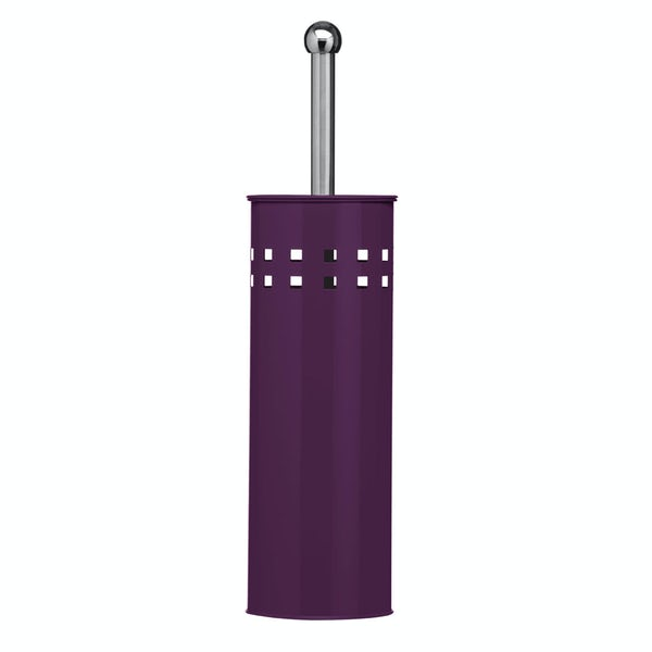 Toilet brush stainless steel purple