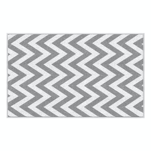 Hug Rug grey chevron bathroom mat 80 x 50cm