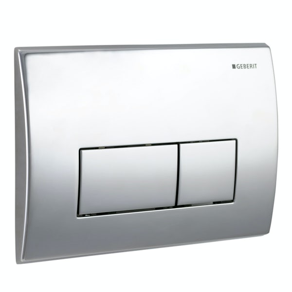 Geberit Kappa50 dual flush plate gloss chrome
