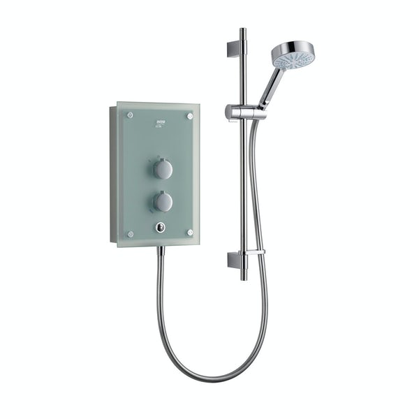 Mira Azora 9.8kw electric shower frosted glass
