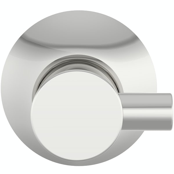 Accents round contemporary robe hook