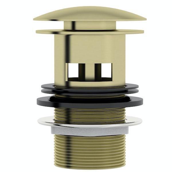 Mode Spencer click clack slotted brushed brass basin waste