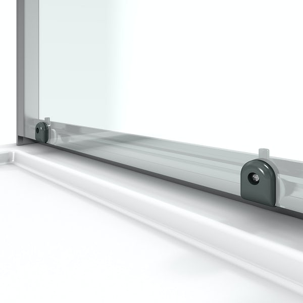 Orchard 6mm sliding shower enclosure with anti-slip tray
