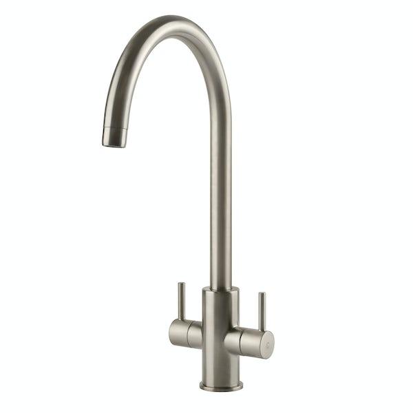 Tuscan Pomino brushed kitchen tap
