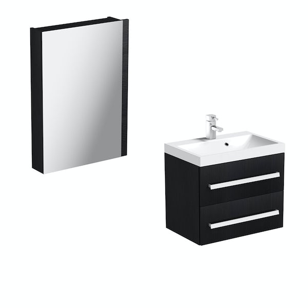 Orchard Wye essen wall hung vanity unit and mirror offer 600mm