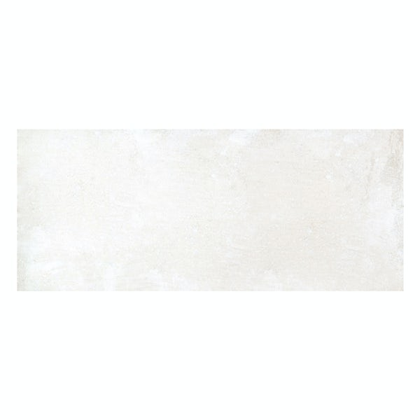 Geneva white stone effect matt wall tile 250mm x 600mm