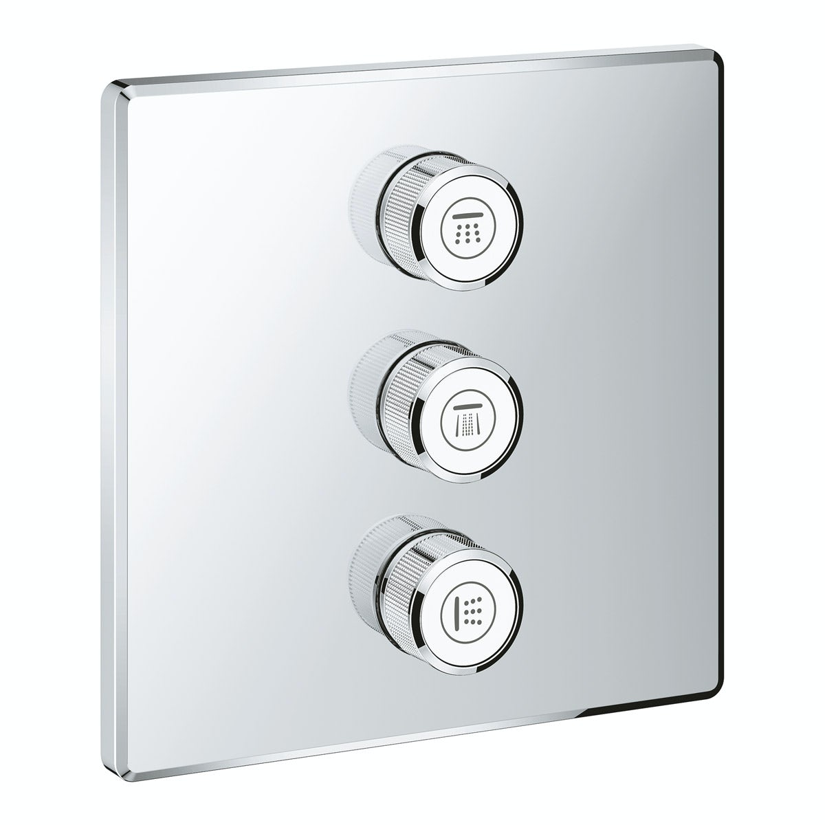 Grohe Grohtherm SmartControl square triple volume control ...