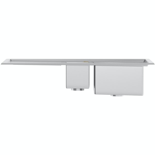 Tuscan Arezzo brushed steel 1.5 bowl left handed kitchen sink