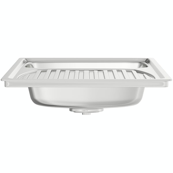 Leisure Euroline reversible stainless steel 1.0 bowl kitchen sink and Schon Burgh tap