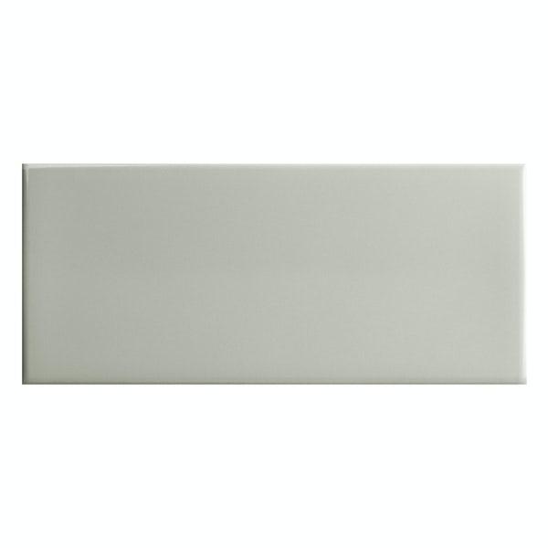 Bordeaux grey flat gloss wall tile 200mm x 457mm