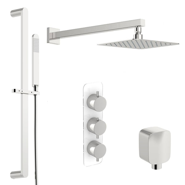 Mode Austin thermostatic shower valve with slider rail and wall shower set