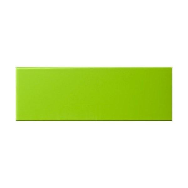British Ceramic Tile glass kiwi green gloss tile 148mm x 448mm