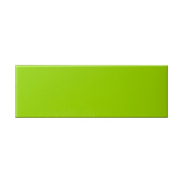 British Ceramic Tile glass kiwi green gloss tile 148mm x 448mm