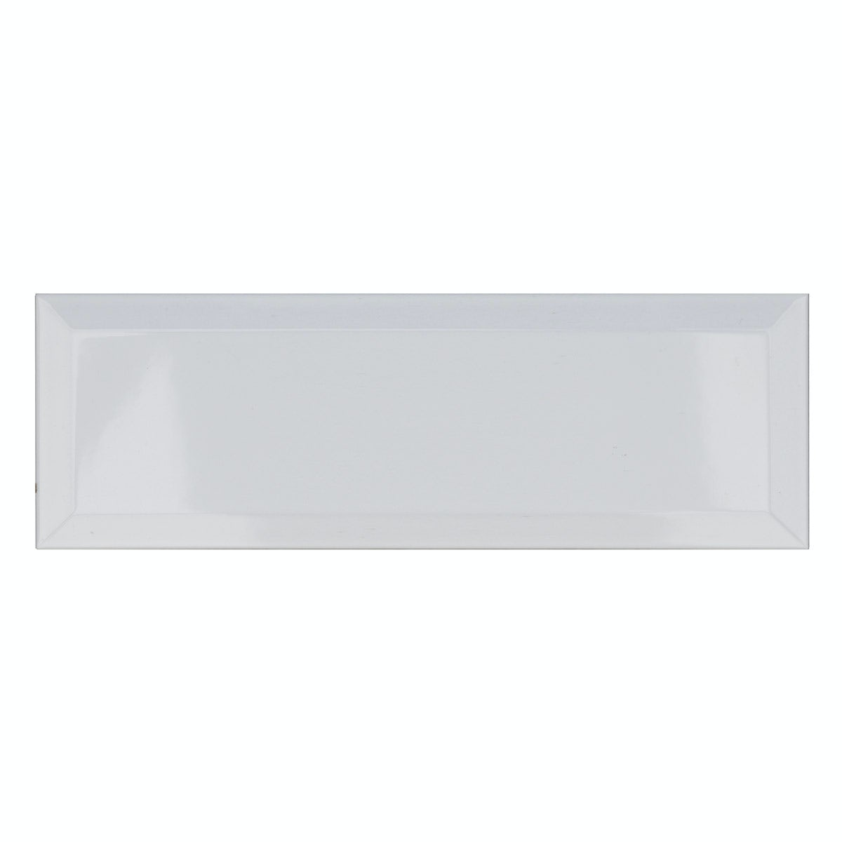 Maxi Metro Subway White Bevelled Gloss Wall Tile 100mm X
