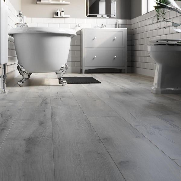 Winnipeg silver birch plank water resistant laminate flooring 8mm