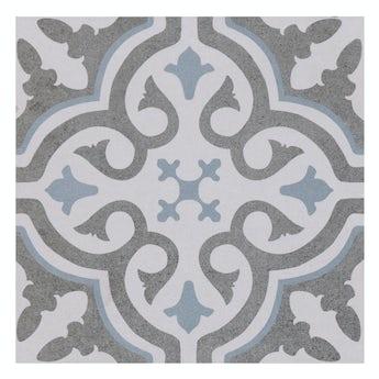 Lucena Leya traditional matt wall and floor tile 450mm x 450mm