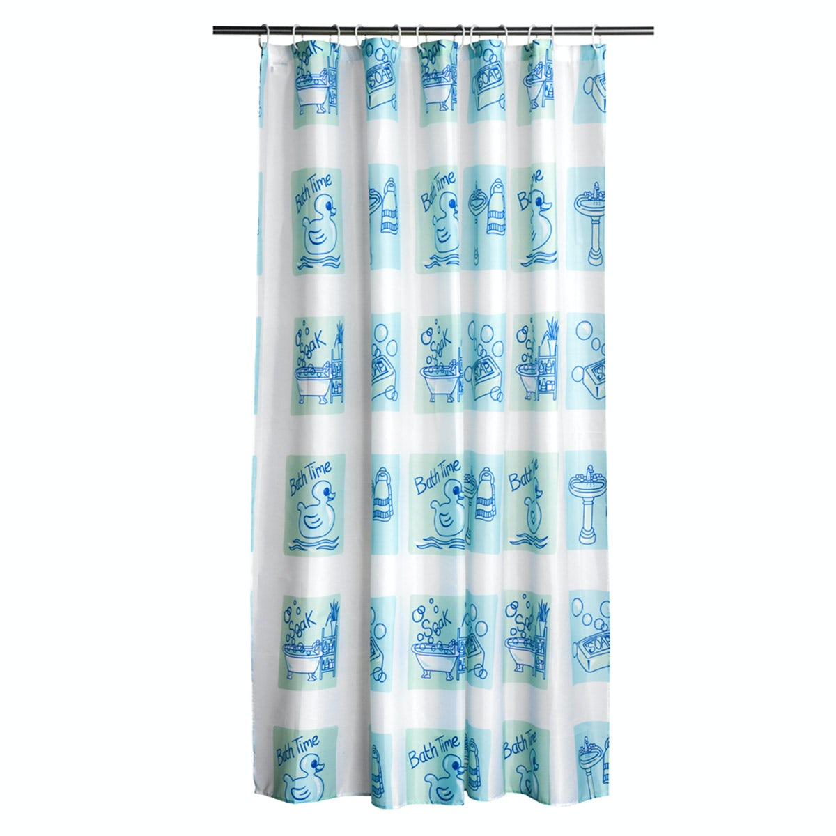 Orchard Bath Time Blue Polyester Shower Curtain Victoriaplum Com