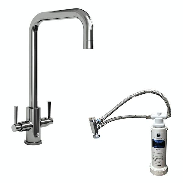 Schön Skye L spout kitchen tap with complete filter kit