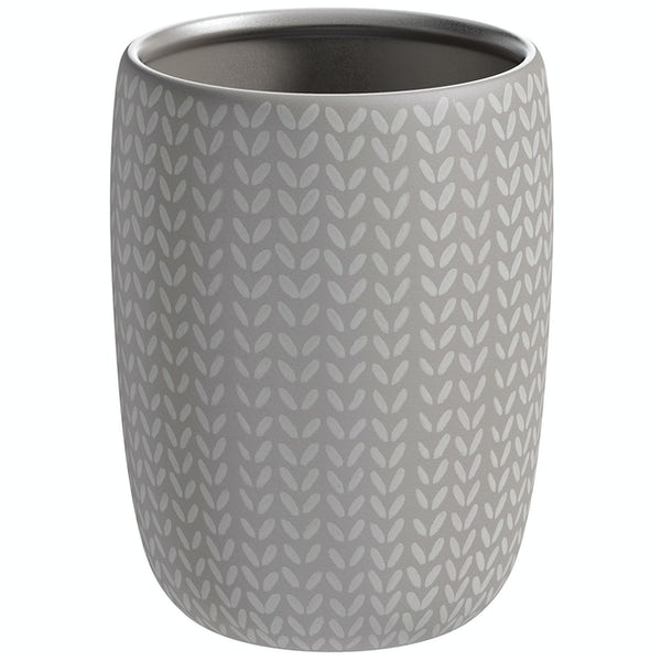 Accents ceramic grey patterned tumbler