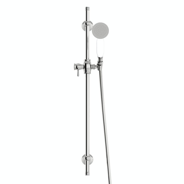 The Bath Co. Camberley traditional sliding shower rail kit