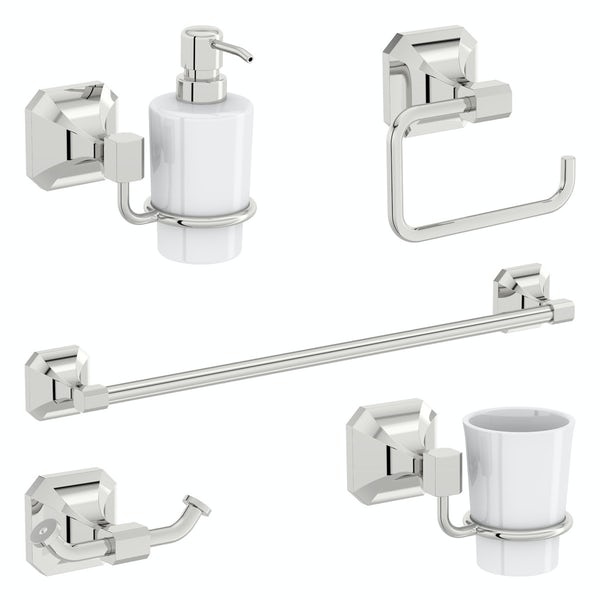 The Bath Co. Camberley 5 piece ensuite accessory set