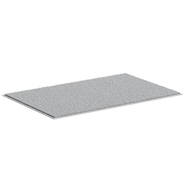 Accents light grey chenille bath mat