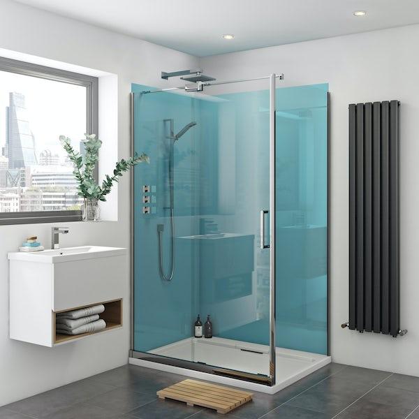 Zenolite plus water acrylic shower wall panel corner installation pack 1000 x 1000