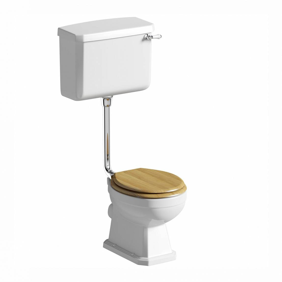 Regency Low Level Toilet Incl Luxury Solid Oak Seat