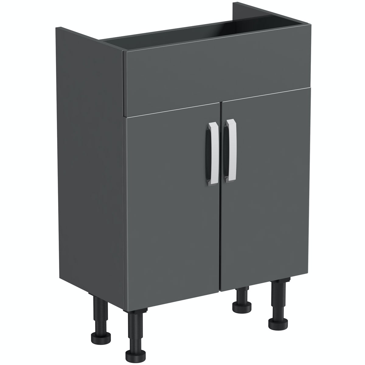 Mode Nouvel gloss grey vanity unit 600mm