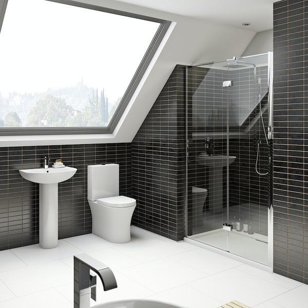 Hardy bathroom suite with 8mm shower door 1200